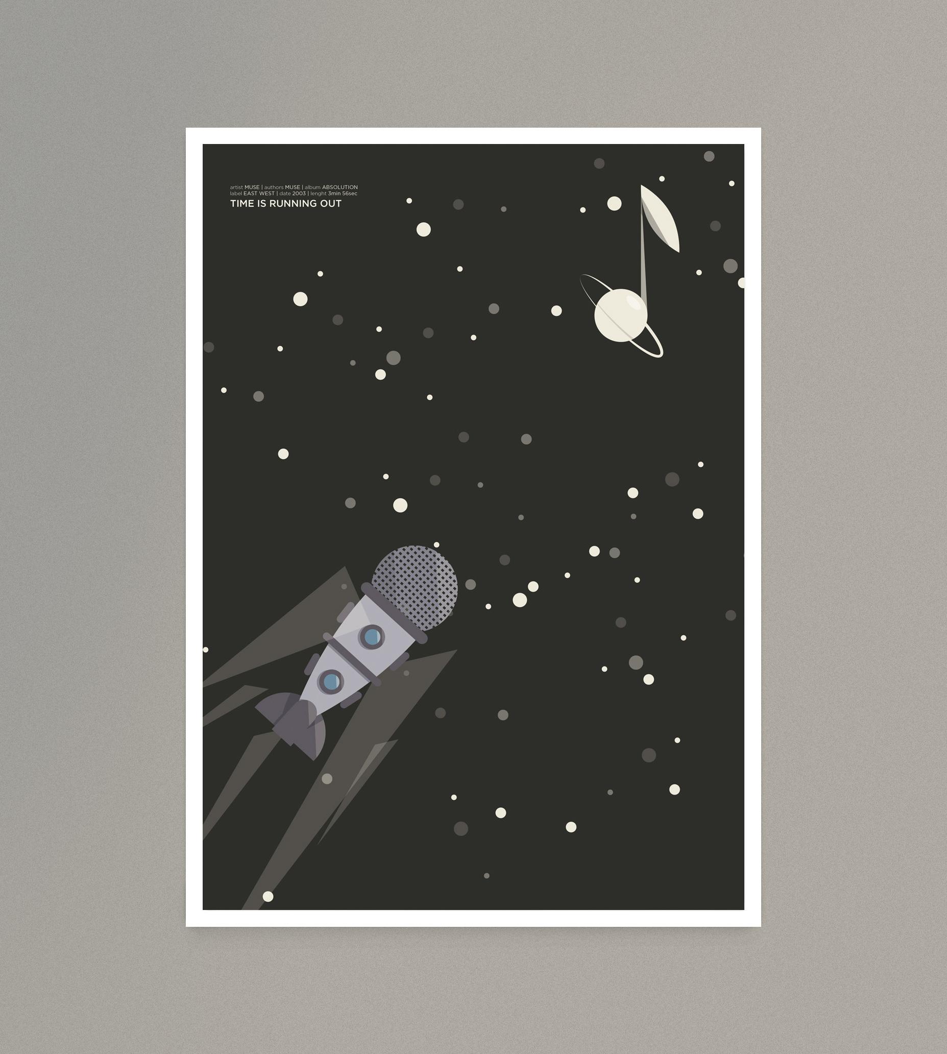 Time is running out, un missile a forma di microfono solca uno spazio di note sconosciute