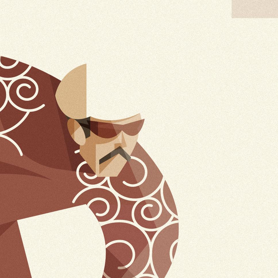 Roma, particolare sul volto e la divisa di Alvise Zanasca, vincitore della passata edizione della Criterium Italia con la sua divisa a texture giapponese su fondo rosso.