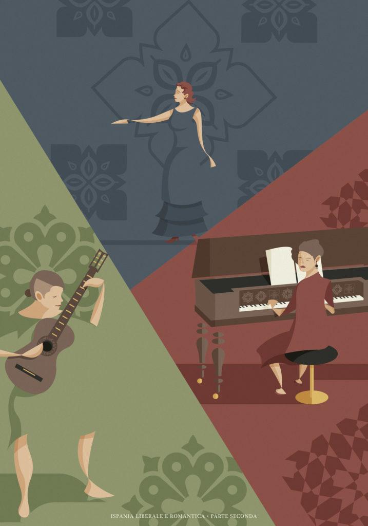 Il ritratto delle nostre protagoniste, la chitarrista danzante Enrica, la suonatrice di fortepiano Laura e la mezzosoprano venuta da lontano: Anna Lorraine Tonna.