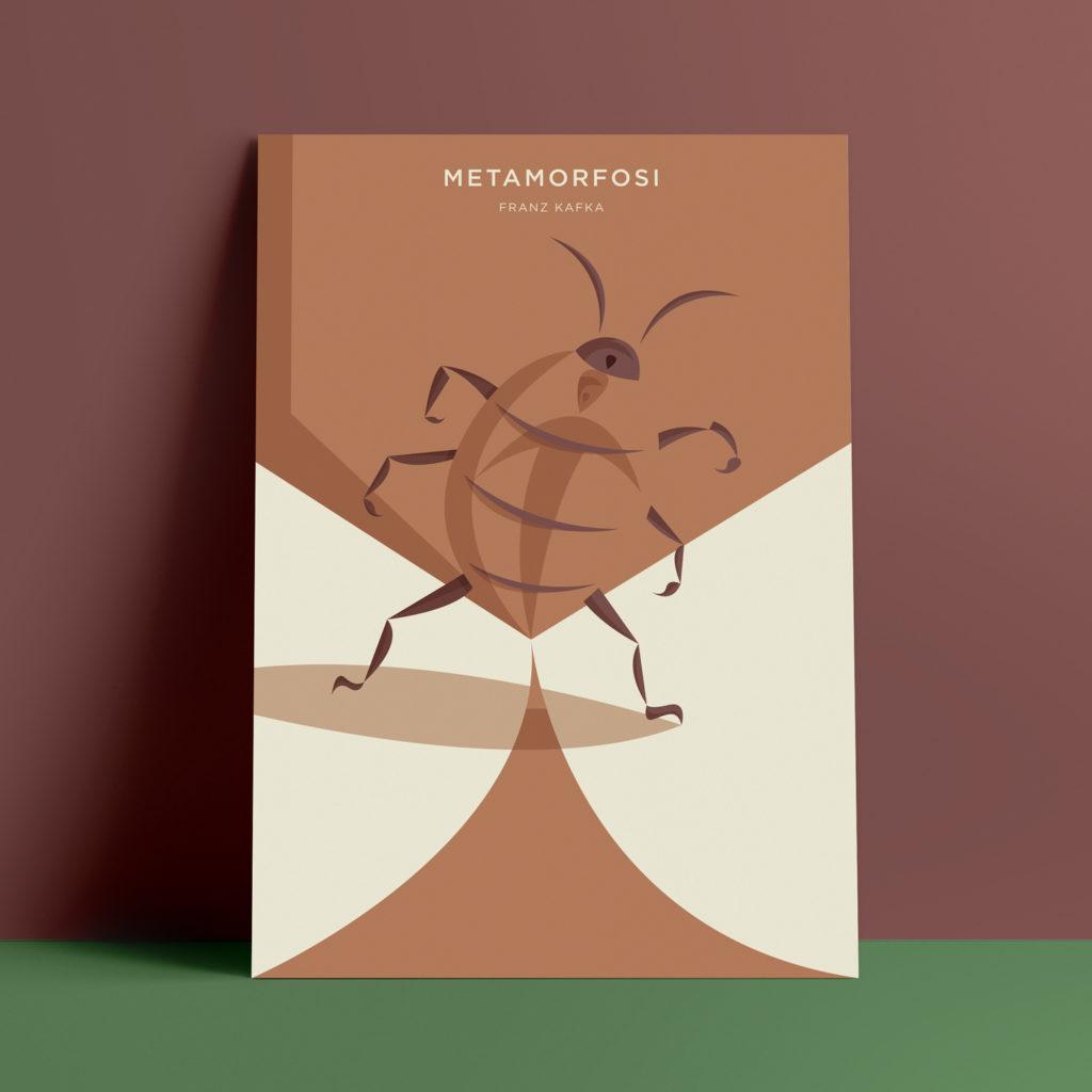 Metamorfosi, Kafka. Uno scarafaggio mostra il ventra su cui si è impressa la forma di un uomo urlante, a dimostrare l'avvenuta metamorfosi.