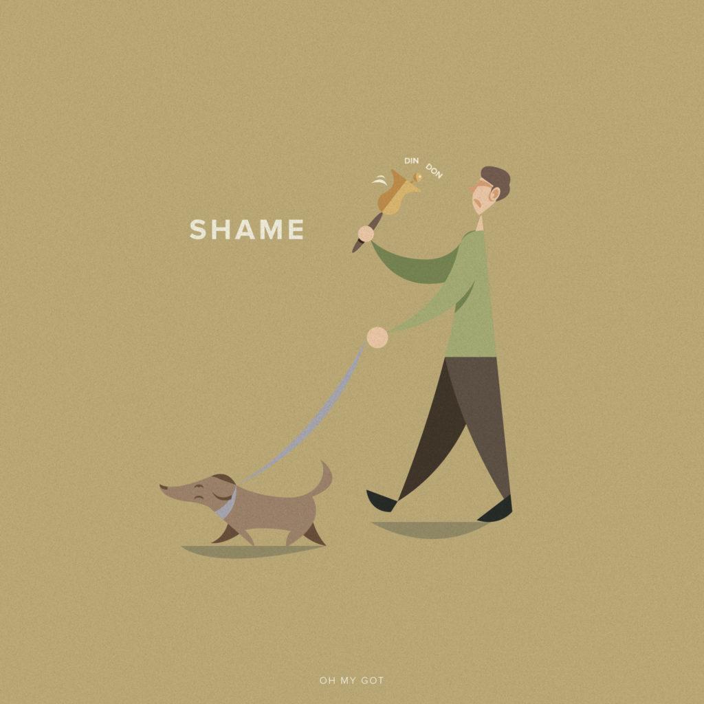 Oh my GOT, life after Game of Thrones. Portare a spasso il cane con un campanaccio intonando shame e inneggiando ai sette dei.