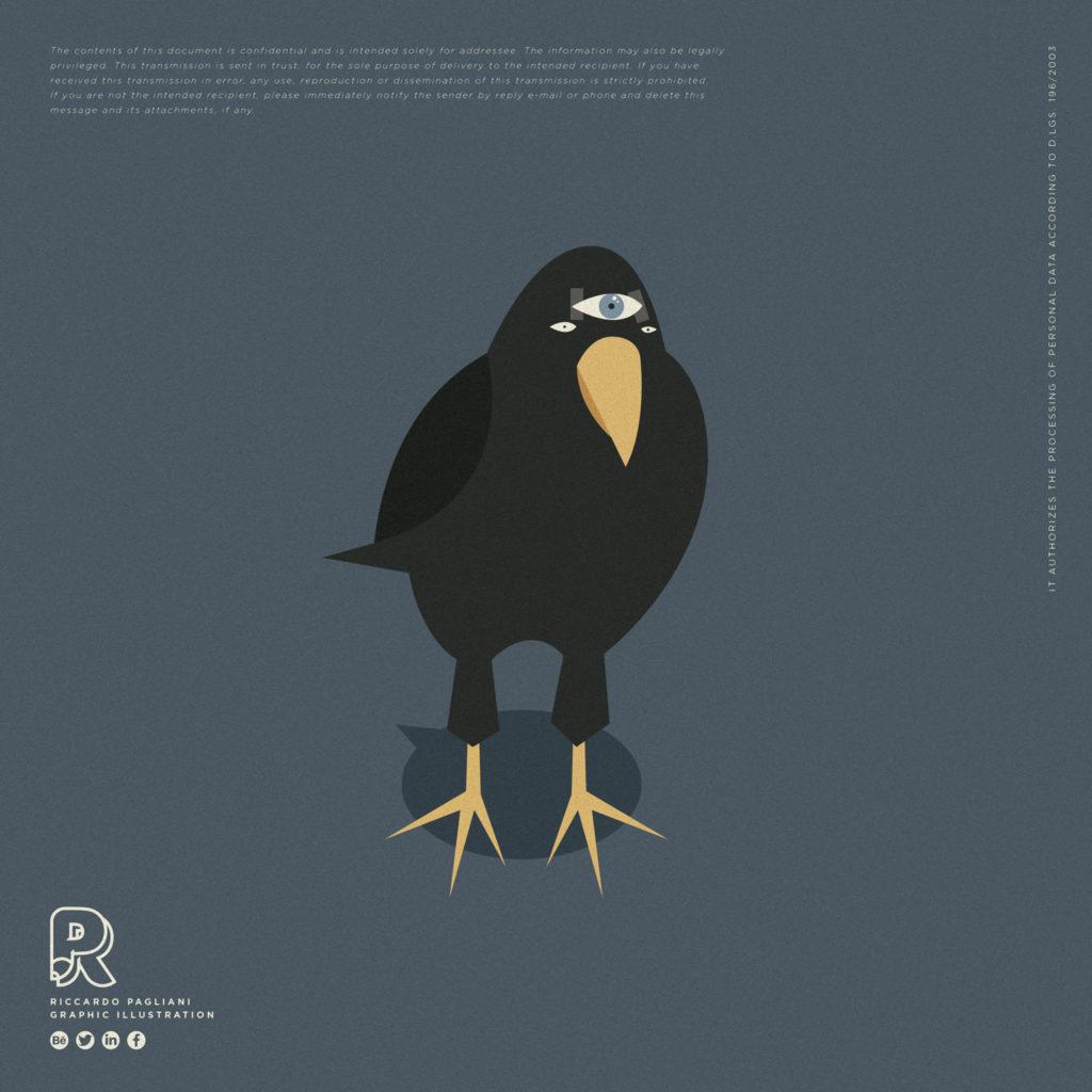 Oh my GOT, life after Game of Thrones. Per concludere il corvo dai due occhi più il terzo attaccato con nastro adesivo.