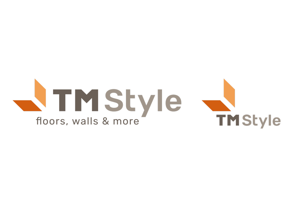 le due versioni del marchio, una più orizzontale e una più squadrata.