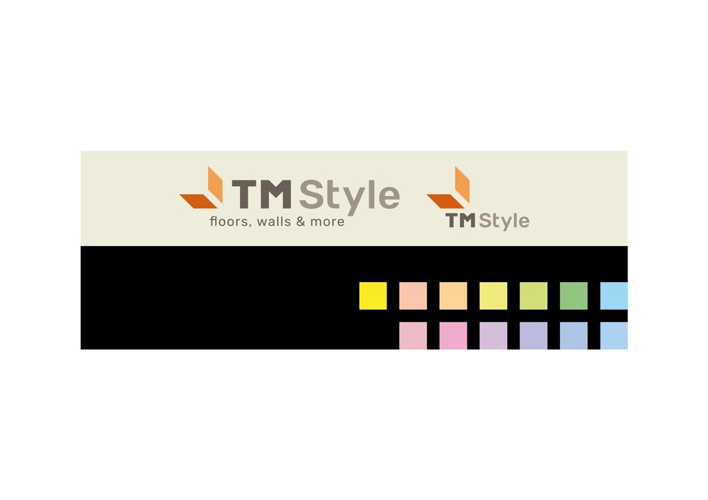 superfici di applicazione del marchio colorato, su tinte tenui e pastellate.