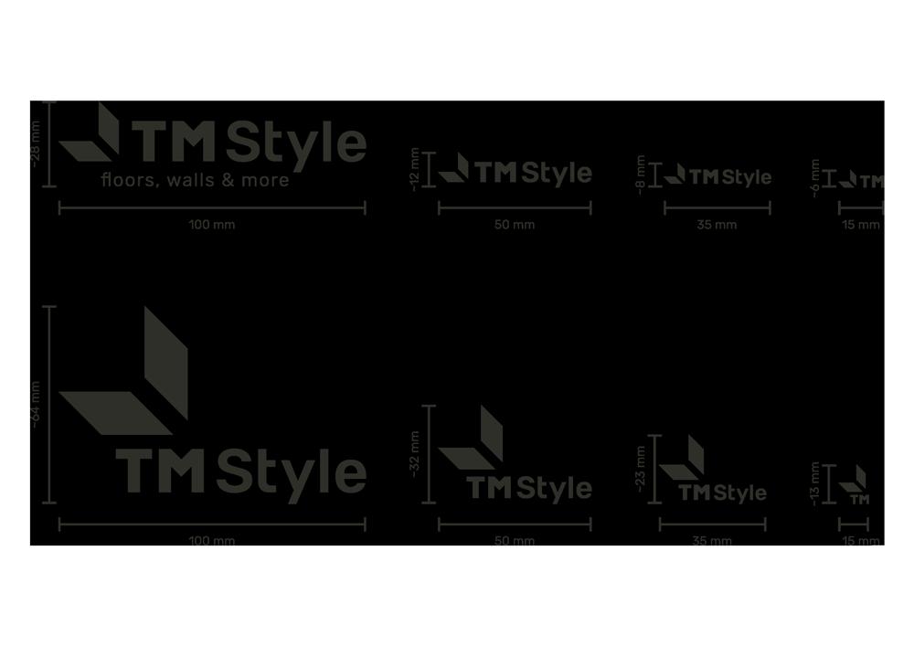 dimensionamenti del logo e le sue variazioni a seconda della sua dimensione.