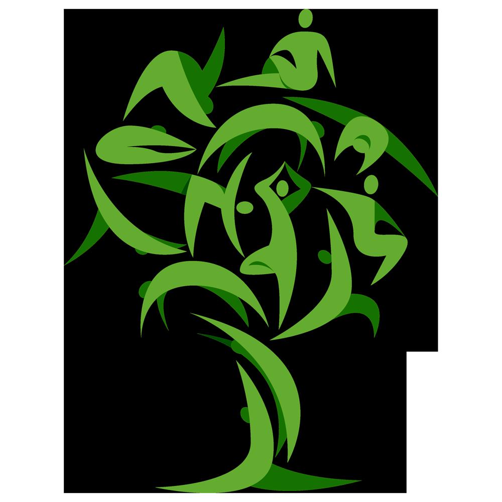 la composizione finale che andrà a costituire l'albero dello yoga, con varie forme umane in posizioni atletiche prese appunto dalle discipline di meditazione orientali.