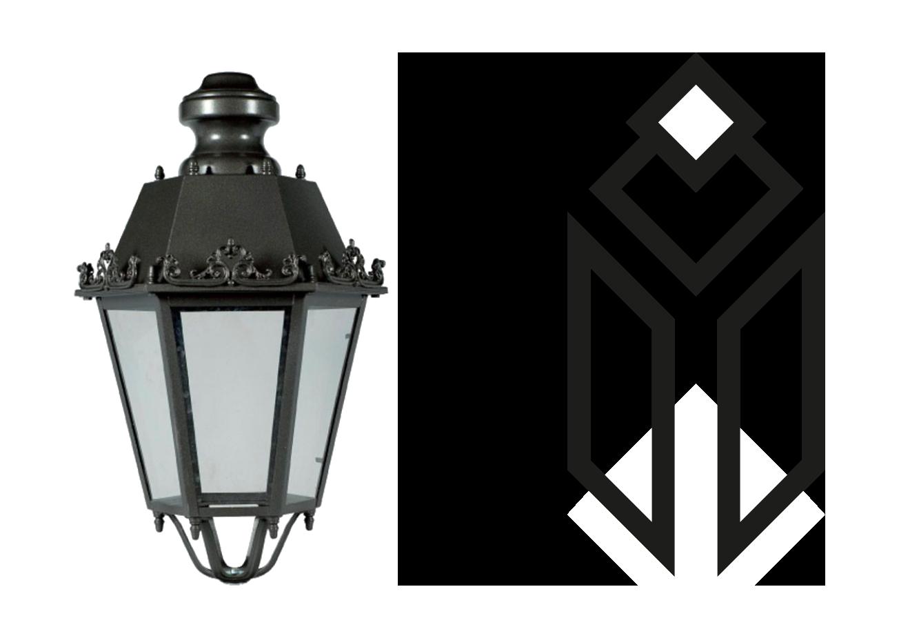 la lampada sintetizzata nelle sue forme base come punto di partenza del progetto