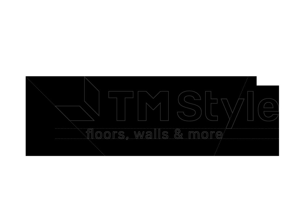 """fase progettuale 5. La headline del logo viene poi unita al marchio di conseguenza: """"Floors, walls & more"""""""