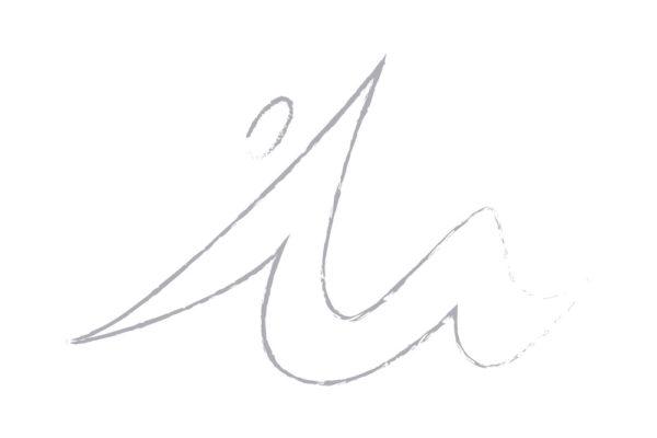 il punto di partenza, una M ma anche una persona che si alza da terra stirandosi in un gesto atletico