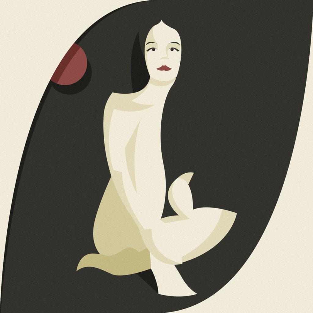 woman in black 7, una ragazza seduta per terra guarda dritta davanti a lei avvolgendo con le braccia le sue forme morbide, celando alla vista ciò che ogni uomo vorrebbe vedere.