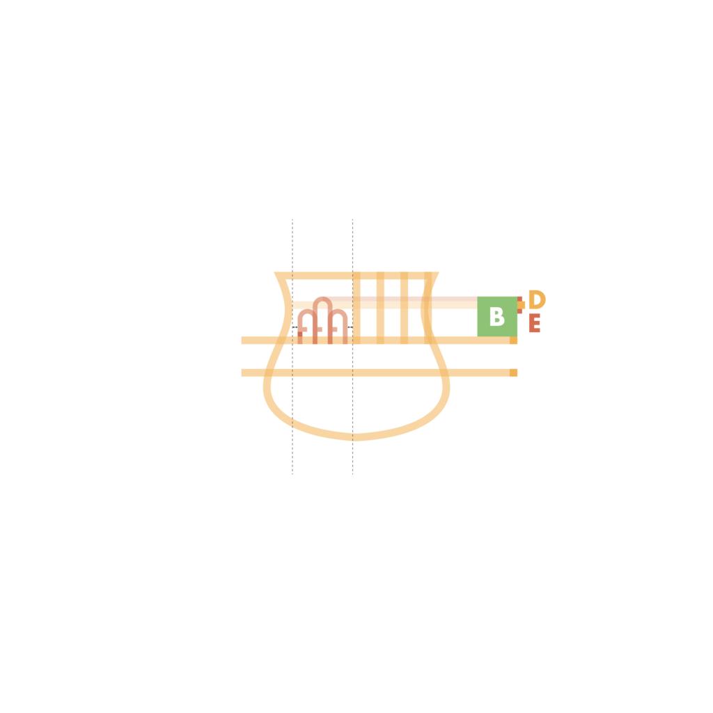 sassuolo logo restyling, le colline in fiore. La parte alta si compone poi delle tre colline affiancate e su cui campeggiano due fiori, simbolo araldico del comune di Sassuolo. Per rendere tutto molto più elegante si è deciso di uniformare il tratto alle forme base di progettazione e trasformare i fiori in semplici accostamenti di circonferenze, aventi distanze regolari dalle colline.