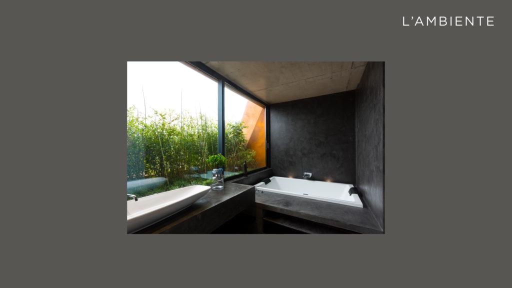 La realizzazione: l'ambiente. Prendiamo in considerazione un bagno con varie superfici da modificare, tutte tra loro comunicanti.