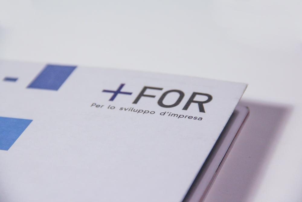 Un dettaglio del logo For Plus in copertina