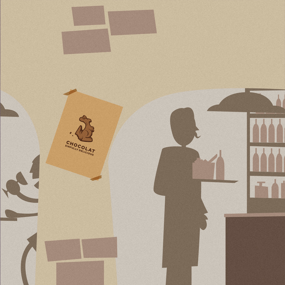Un dettaglio del video, sullo sfondo si vede un poster della serie Movie realizzato da Riccardo Pagliani…product placement d'autore!
