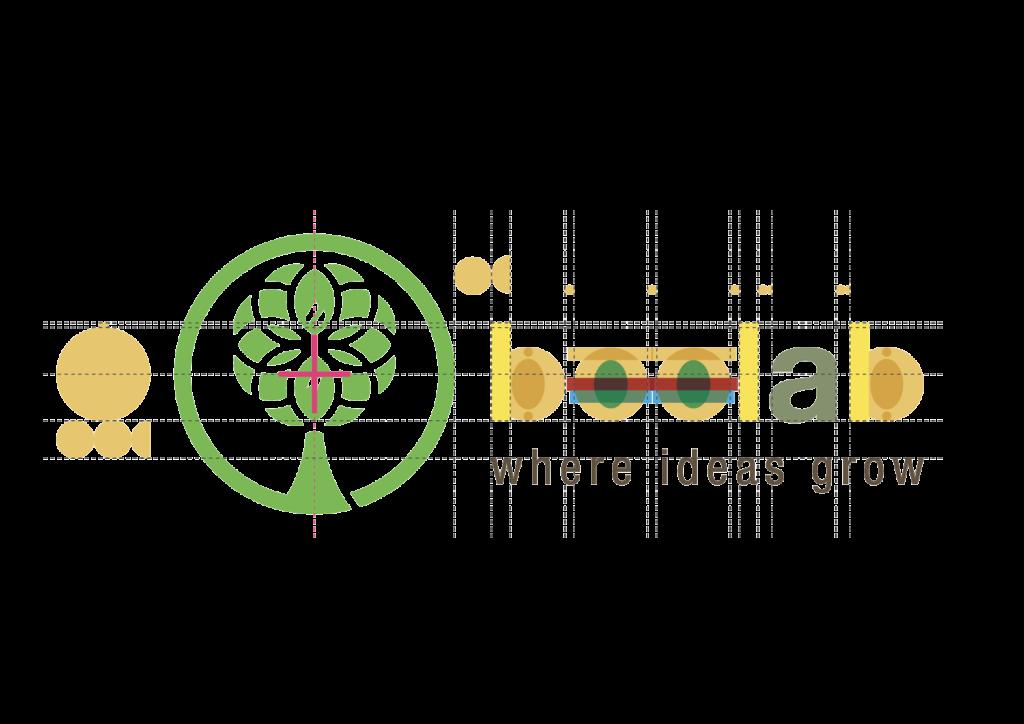 """L'aggiunta del logotipo """"BeeLab"""" costruita partendo dalle stesse forme dell'albero, vuole ricalcare l'Helvetica Neue, uno dei caratteri tipografici fondamentali presentati nella guida di utilizzo del marchio UNIMORE"""