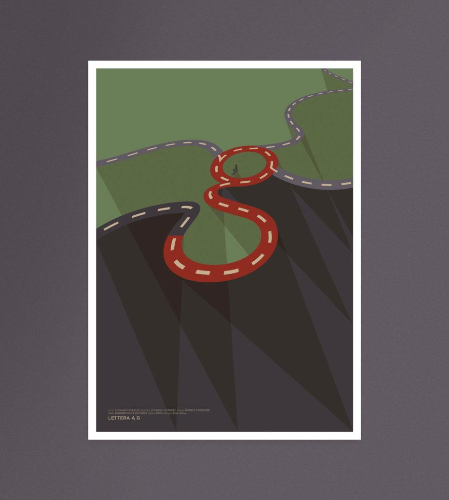 Lettera a G, una grossa G si forma al centro di una rotatoria, al suo interno un ragazzo seduto