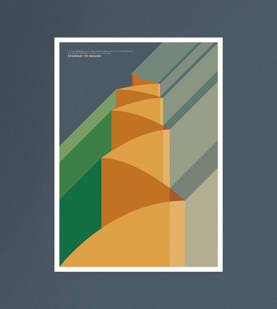 Stairway To Heaven, una torre di Babele solcata da luce e prati, sulla cima una casa